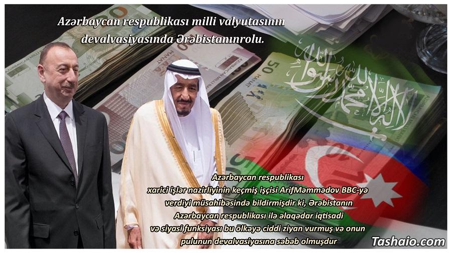 Azərbaycan respublikası milli valyutasının devalvasiyasında Ərəbistanın rolu.